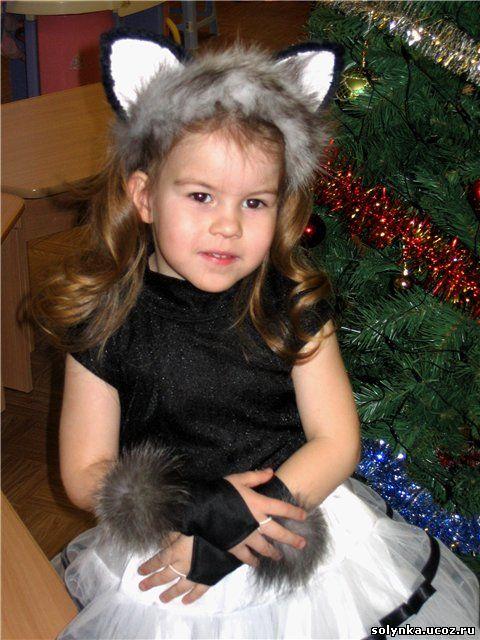 Карнавальный костюм кошечка своими руками